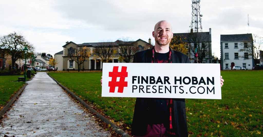 Local Promoter Finbar Hoban pictured recently in Castlebar launching the new Finbar Hoban Presents website, Photo by Michael Quinn