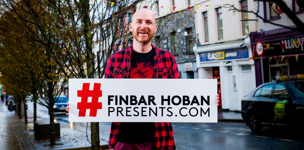 Local Mayo Booker/Promoter Finbar Hoban pictured recently in Castlebar launching the new look Finbar Hoban Presents website , Photo by Michael Quinn